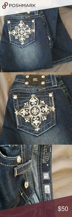 Miss me boot cut jeans with added necklace Miss me boot cut jeans size 27, like brand new. Also a Miss Me necklace. Miss Me Jeans Boot Cut