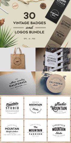 I'm happy to introduce you 30 Vintage Badges and Logos Bundle V01 a minimal typographic vintage logos collection. This vintage badges and logos bundle can be used in branding #AffiliateLink