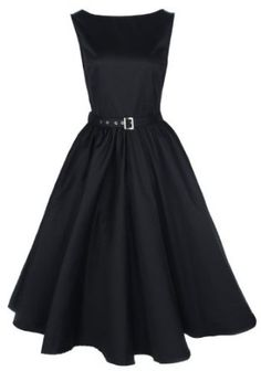Amazon.com: Lindy Bop Vintage 50S Audrey Hepburn Style Swing Party Rockabilly Evening Dress: Clothing