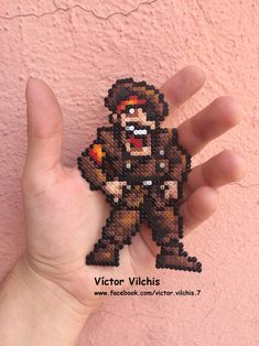 General Donald Morden - Metal Slug by victormvr on DeviantArt Pixel Pattern, Beaded Cross, Perler Bead Art, 8 Bit, Pearl Beads, Cross Stitching, Pixel Art, Bookmark Ideas, Geek Stuff