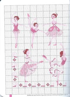 0 point de croix danseuse ballerine - cross stitch ballet dancers