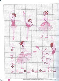 0 point de croix danseuse ballerine - cross stitch ballet dancers