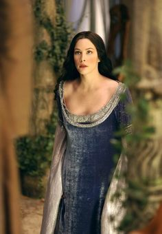 Arwen (Liv Tyler) in 'The Lord of the Rings: The Return of the King' (2003). Costume design by Ngila Dickson.