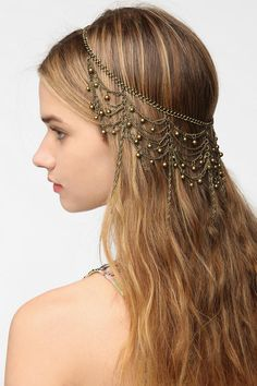Draped Chain Halo Headwrap   #UrbanOutfitters. Just bought this for my '20s Party.
