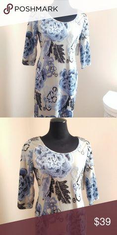 56fa0f548e1 Eva Mendes floral velvet flocked contour dress New never worn. If you have  the curves