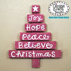 Christmas Tree Handmade Handpainted by ChrissieGraceDesigns, $40.00