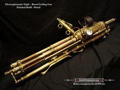 Steampunk Gatling Gun - Electroplasmatic Rotary Cannon 001   Flickr - Photo Sharing!