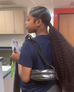 Hair Ponytail Styles, Weave Ponytail Hairstyles, Sleek Ponytail, Baddie Hairstyles, My Hairstyle, Summer Hairstyles, Curly Hair Styles, Natural Hair Styles, Black Hairstyles