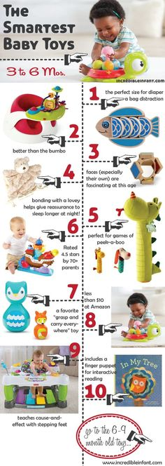 Smartest baby toys for 3 to 6 months.