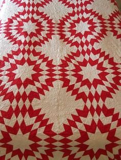 Hand Sewn Antique PA Turkey Red Touching Star Detailed Quilt c1890 Rochester PA | eBay