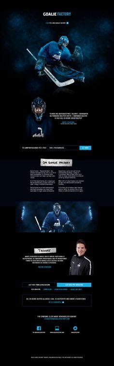 Unique Web Design, Goalie Factory #WebDesign #Design (http://www.pinterest.com/aldenchong/)