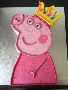 Peppa Pig strawberry buttercream cake