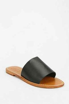 BDG Leather Slide Sandal - Urban Outfitters