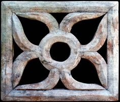 Hand made terracotta  old brick used as a ventilation cover