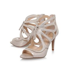 Calivia Champagne Mid Heel Sandals By Vince Camuto | Kurt Geiger