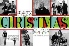 Modern Christmas Holiday Photo Card - best invite company i've ever used!  www.delightinvite.com