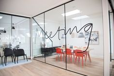 Handscript Typography Environmental Graphics | Corporate Conference Room Design #interiordesign