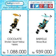 Dapatkan stroller efisien dan praktis dari Cocolatte dan Babyelle dibawah ini.  Hanya di www.babylonish.com