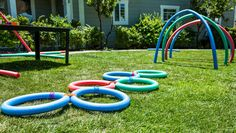 DIY Backyard Fun with Pool Noodles
