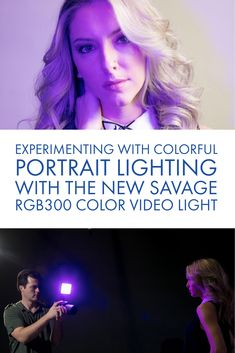 Recently portrait and beauty photographer Ryan Walsh created some dramatic, colorful headshots with the new Savage Color Video Light. Portrait Lighting, Photo Lighting, Studio Lighting Setups, Savage, Photo Galleries, Color, Colour, Colors