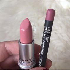 MAC Creme Cup lipstick and Edge to Edge lip liner