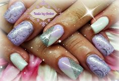 Purple shimmery nails!