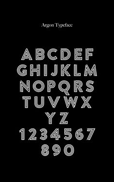Argon Font (Full) by TomAnders on Creative Market