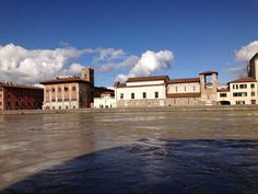 Pisa Arno in piena