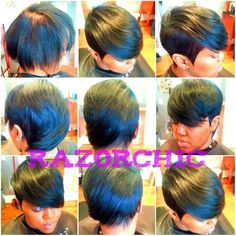 This hairstyle would look good on me with my large forehead Love Hair, Great Hair, Gorgeous Hair, Short Hair Cuts, Short Hair Styles, Sassy Hair, Hair Affair, Relaxed Hair, Madame