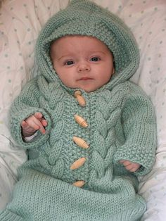 Baby Cocoon, Snuggly, Sleep Sack, Wrap Knitting Patterns Knitting pattern for Cabled Baby Bunting cocoon and a bunch of other cute free baby patterns. Free Baby Patterns, Knitting Patterns Free, Knit Patterns, Free Knitting, Sweater Patterns, Finger Knitting, Knitting Machine, Free Pattern, Baby Bunting