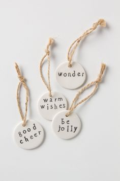 wishful ceramic gift tag set by molly hatch   anthropologie.com