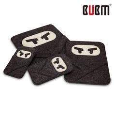 """For Ipad Mini Felt Sleeve Bag Felt Wool Cartoon cute for ipad mini sleeve bag BUBM for ipad air 9.7"""""""