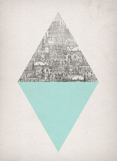 Diamond by David Fleck. So much commotion on one side versus the serene aqua on the other...maybe two ways to think about life?