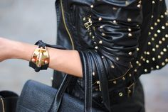 leather chicness