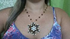 MANDALA FLOR  DE CRISTAIS Jewelry Making Tutorials, Bead Crafts, Beads, Diamond, Videos, Fashion, Black Stud Earrings, Black Crystals, Rock Necklace
