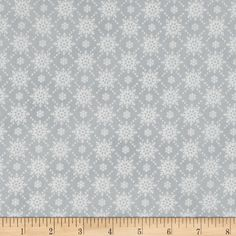 Christmas Wishes Snowfall Mist from @fabricdotcom  Designed by Sue Marsh for RJR Fabrics, this traditional christmas cotton print collection is perfect for quilting, apparel, and home decor accents. Colors include grey and white.