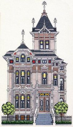 cross stitch westerfield house - Google Search