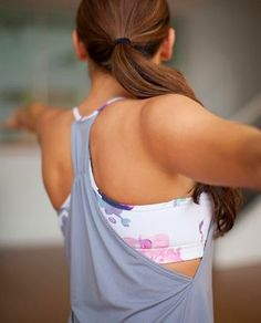Lululemon Athletica yoga top - cute enough to wear outside the gym too!