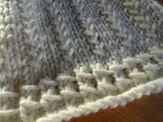Braided Scarf Tutorial.  Love this slipped stitch border.