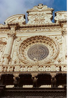 Lecce - Santa Croce Louis Xiv, Classic Architecture, Landscape Architecture, Renaissance, Regions Of Italy, Southern Italy, Kirchen, Wall Sculptures, Siena