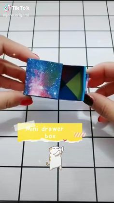 Art origami video. Creative box.