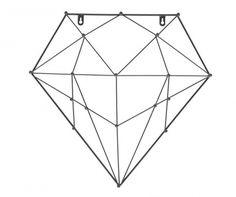 Diamond Fali dekoráció Magzagból - falon - szögekre