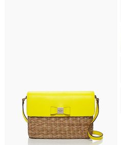 straw: it's not just for the beach. the vita limoni clara cross-body bag by kate spade new york. (march 2014)
