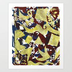 Gel Print 1 Art Print by Rachel Winkelman - $15.00