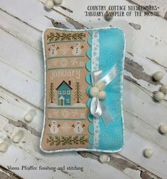 Nikki Leeman (@countrycottageneedleworks) a ajouté une photo sur son compte Instagram : « It's CCN Fan Friday, and this week we're featuring a bevy of January Sampler finishes! These… » Country Cottage Needleworks, Cross Stitch Finishing, Instagram Accounts, January, Photos, It Is Finished, Christmas Ornaments, Holiday Decor, Montage
