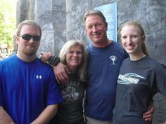 A recent picture of my brother, Kevin, and his family at Busch Gardens in Virginia.