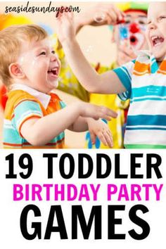 Birthday party activities for 2 year olds! These toddler birthday party games are fantastic if you are wondering how to entertain toddlers at a birthd Toddler Birthday Party Games, 2 Year Old Birthday Party Girl, Birthday Activities, Party Activities, 19 Birthday, Party Games For Toddlers, Toddler Activities, Toddler Party Ideas, Childrens Party Games