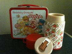 1981 Metal Strawberry Shortcake (and friends) Lunchbox & Thermos