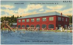 """Page's Lake, Fayetteville, NC Our church used to have it's annual end of summer picnic here. Everybody loved """"The Blob"""". Mary T."""