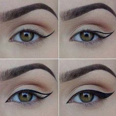 How to Apply Eyeliner. Eyeliner can help make your eyes stand out or look bigger, and it can even change their shape. Even if you've never worn eyeliner before, all it takes is a little practice to take your makeup to the next level! Makeup 101, Makeup Tricks, Makeup Goals, Skin Makeup, Makeup Inspo, Makeup Inspiration, Beauty Makeup, Makeup Ideas, Makeup Tutorials
